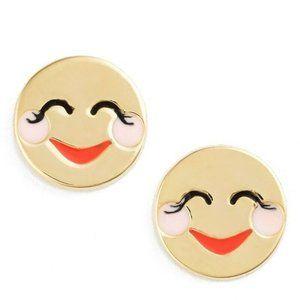 Kate Spade New York 12k Gold Plated Blushing Emoji